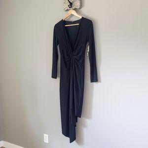 🆕️ Shelli Segal Little Blacl Midi Knot Dress